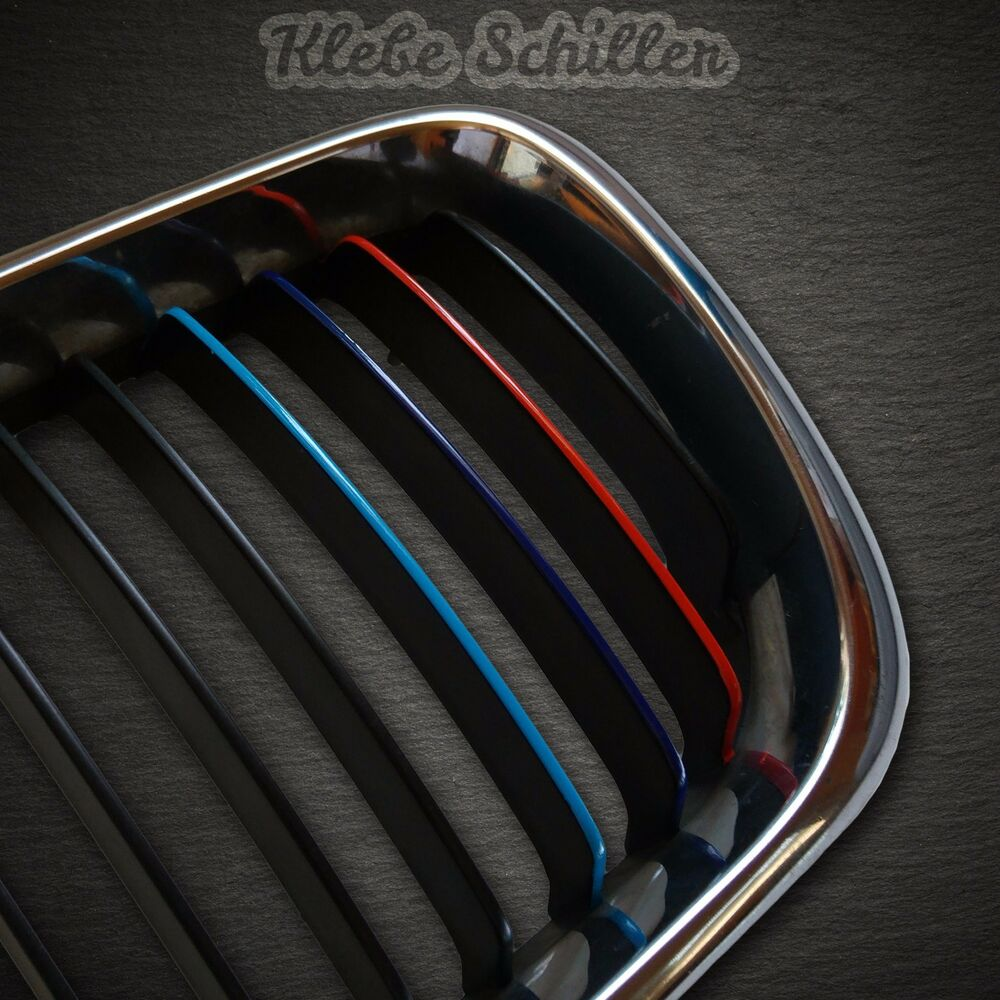 11001 bmw m m3 streifen 213x5 grill nieren aufkleber sticker e39 e46 e90 e91 ebay. Black Bedroom Furniture Sets. Home Design Ideas