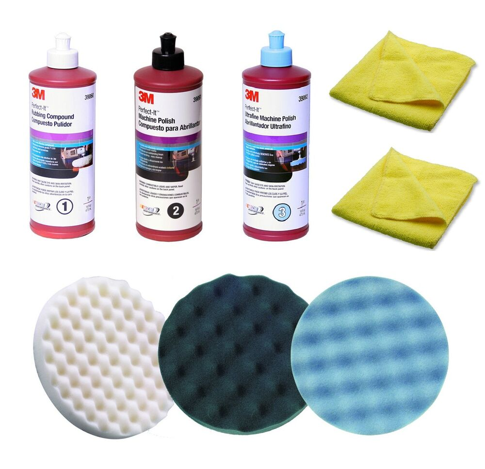 3m perfect it compound polish buffing kit 05723 05725 05751 39060 39061 39062 ebay. Black Bedroom Furniture Sets. Home Design Ideas