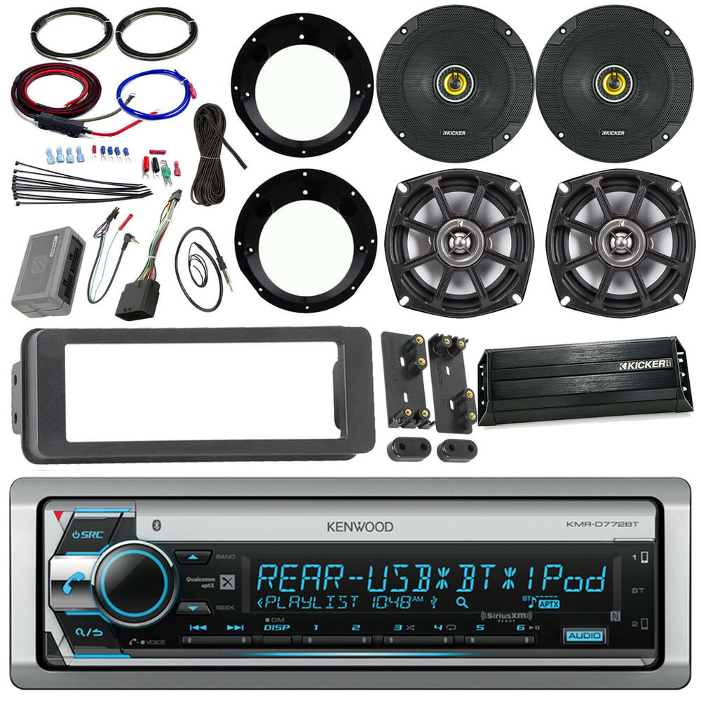 98 2013 Flht Install Kit Receiver Kicker Speaker Set Amplifier Pbr 300x4 4 Ohm Wiring Diagram 728120457497 Ebay
