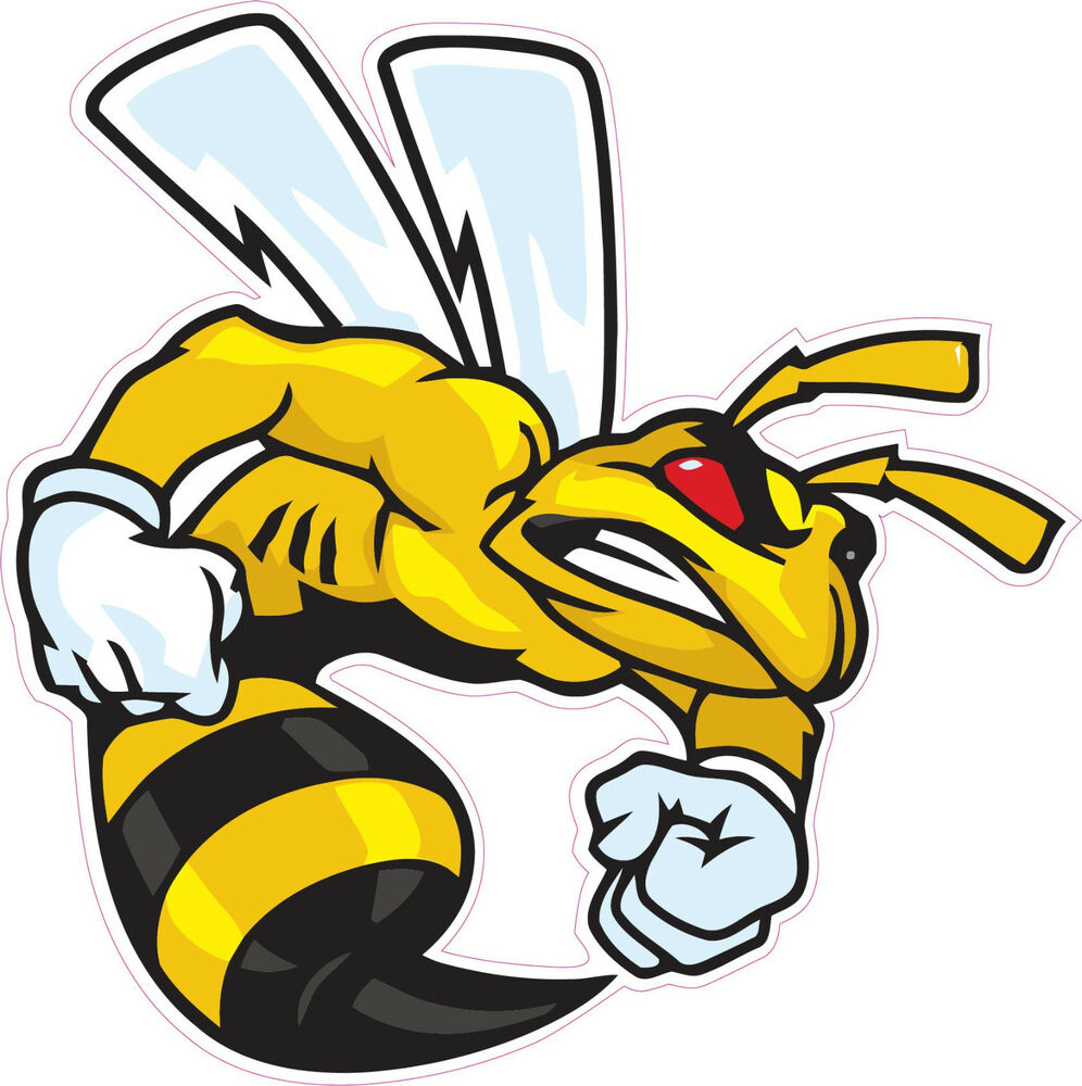 Muscle Car Decals >> Ski-Doo Angry Bee Large Decal 12"