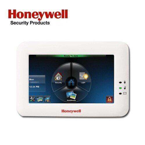 honeywell adt 6280w color touch screen keypad with voice white ebay. Black Bedroom Furniture Sets. Home Design Ideas