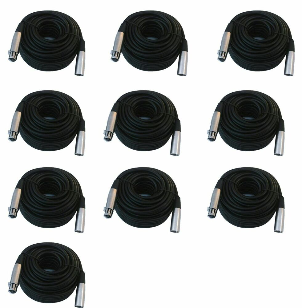 12 lot pack 6ft xlr male to female 3pin MIC Shielded Cable 6 ft microphone audio