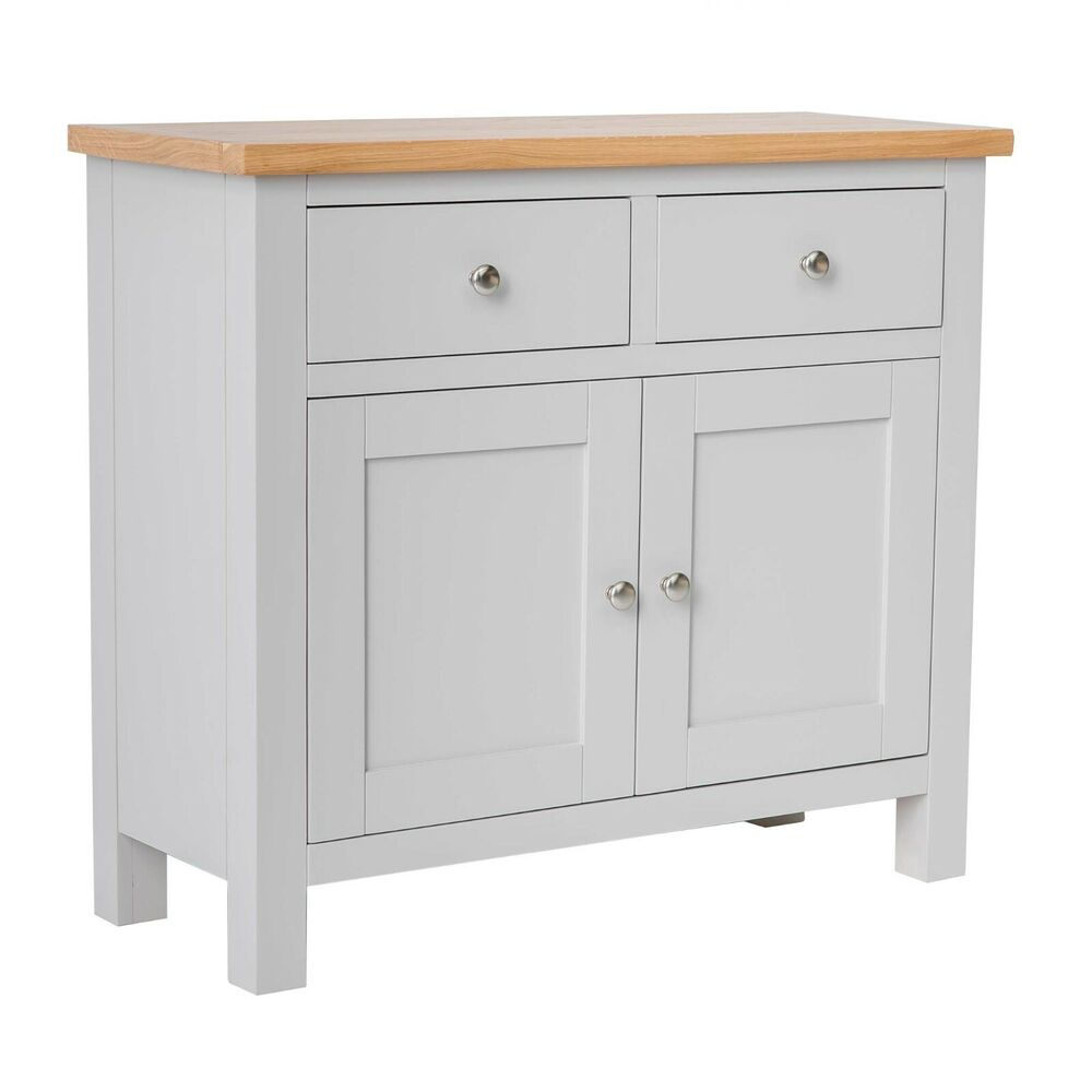 Farrow painted sideboard with two cupboards stone for Painted buffet sideboard
