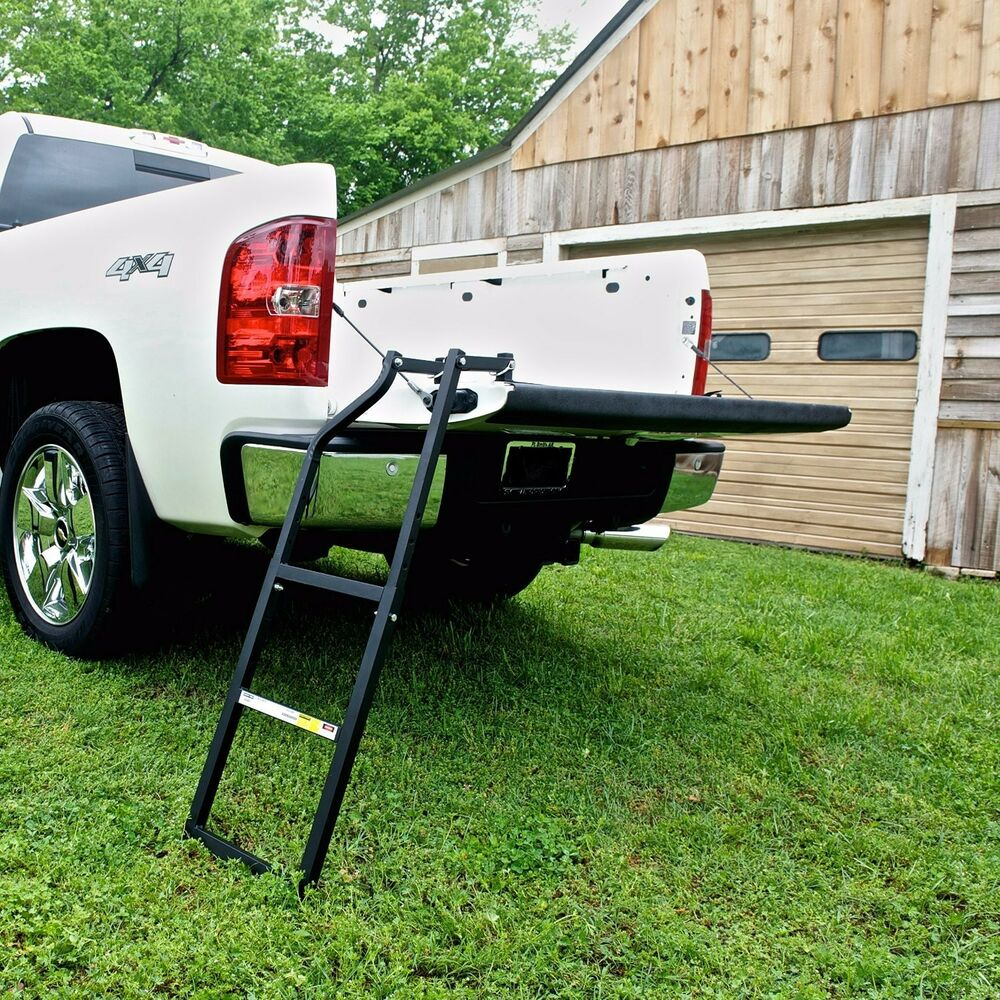 Truck Tailgate Ladder Bed Tail Gate Step Easy Setup