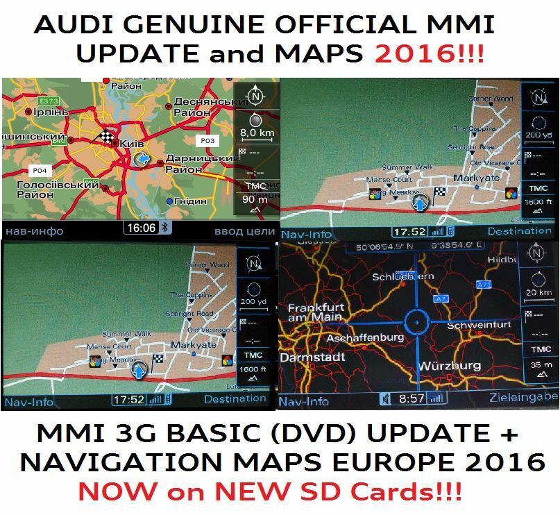 audi a6 mmi 3g update full maps mmi 3g basic newest set. Black Bedroom Furniture Sets. Home Design Ideas