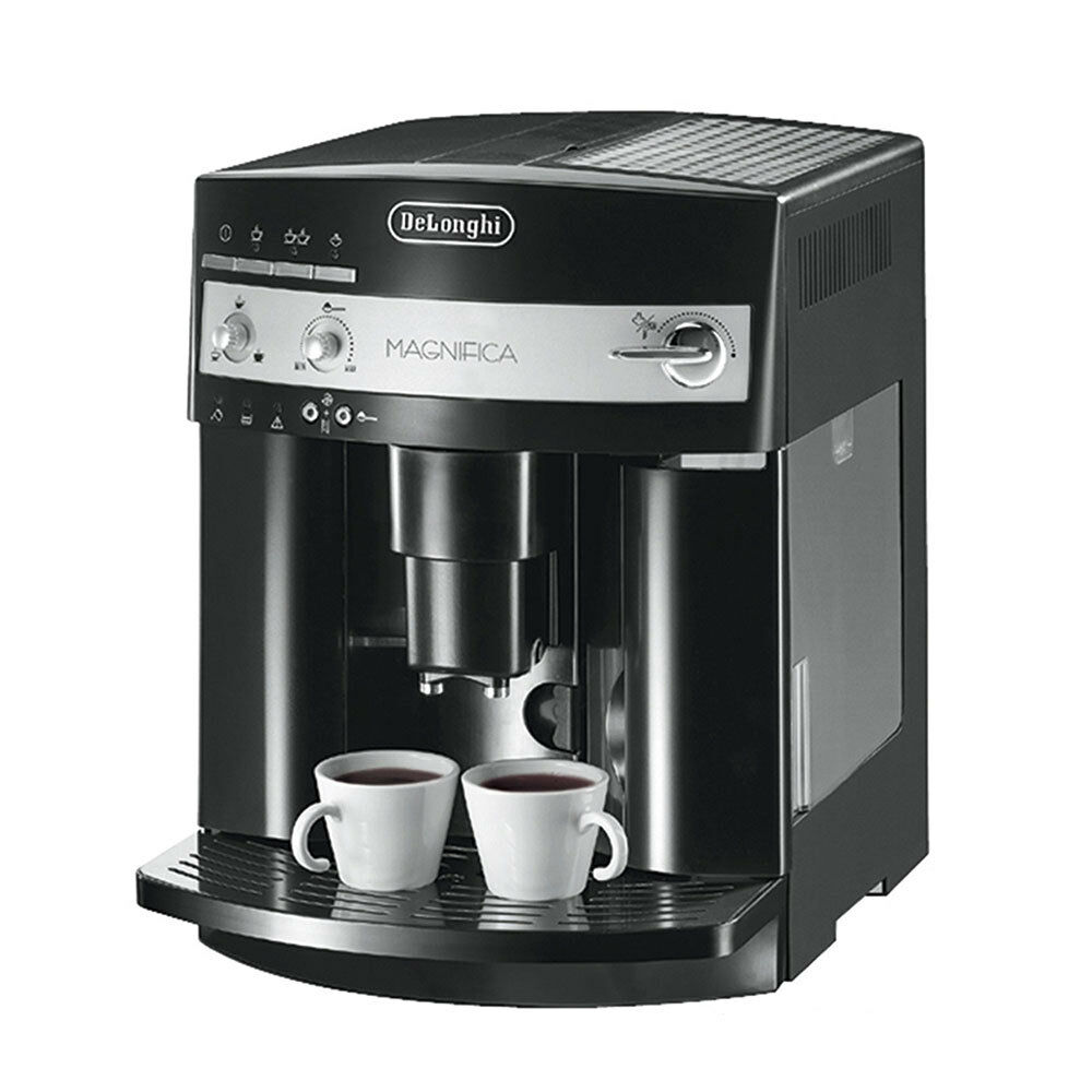 delonghi kaffeevollautomat esam 3000 b magnifica schwarz silber 8004399322578 ebay. Black Bedroom Furniture Sets. Home Design Ideas
