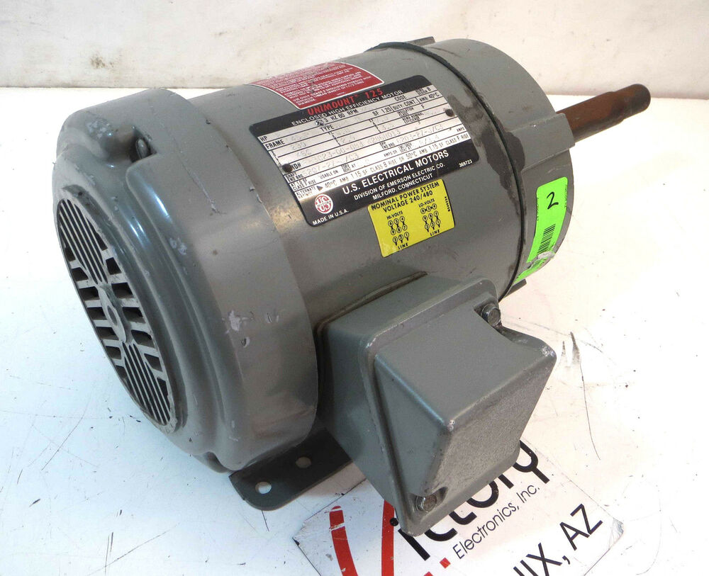 Used us motors unimount 125 3 phase electric motor 2 hp for 450 hp electric motor