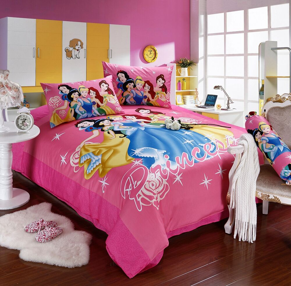 disney licensed princess 7pcs twin full queen comforter in a bag free shipping ebay. Black Bedroom Furniture Sets. Home Design Ideas