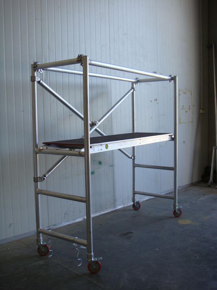 Portable Scaffolding Platform : Aluminum folding scaffold designed tested to au