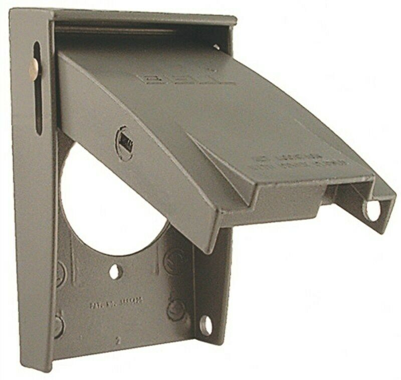 receptacle outdoor outlet cover by hubbell electrical products ebay. Black Bedroom Furniture Sets. Home Design Ideas