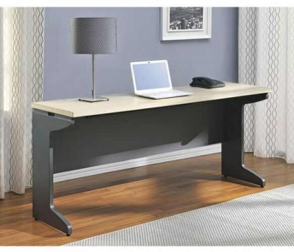 Long Computer Desk Large Table Wood Workstation Organizer