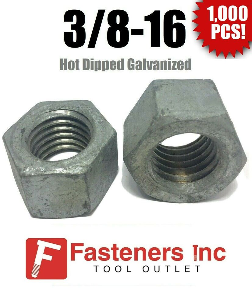 Qty  low carbon grade finished hex nuts hot