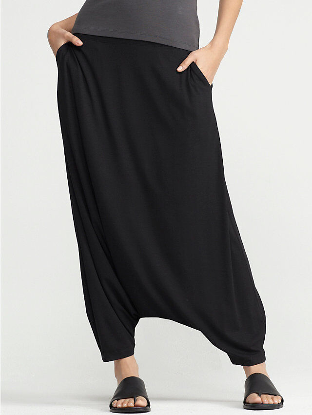 The harem pant is just an all around unflattering look on a petite woman, and most women for that matter. Petite celerities Kylie, Minogue, Lindsay Lohan and Janet Jackson, as well as glamazon Beyonce Knowles are all repeat offenders for this fashion faux pas.