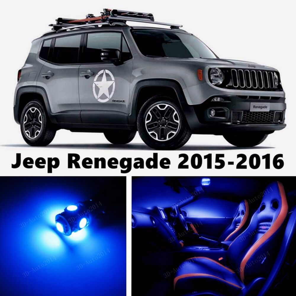 13pcs led blue light interior package kit for jeep - 2016 jeep compass interior lights ...