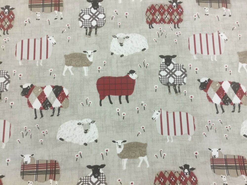 Smd Baa Baa Sheep Peony Wipe Clean 100 Cotton Pvc