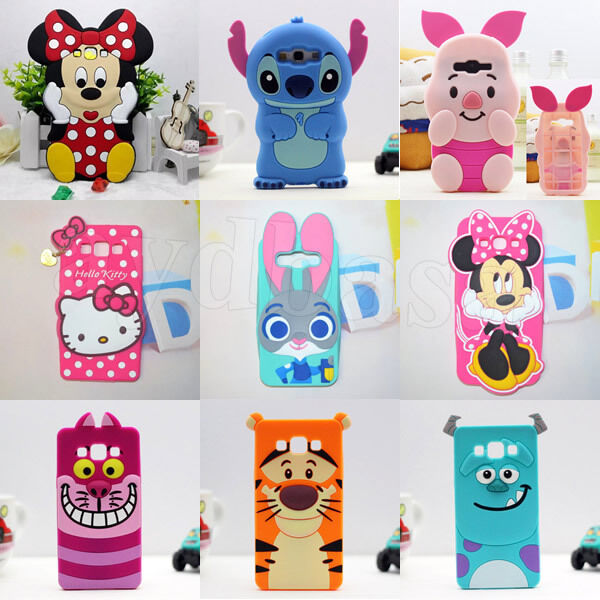 3D Stich Disney Soft Silicone Case Cover For Samsung