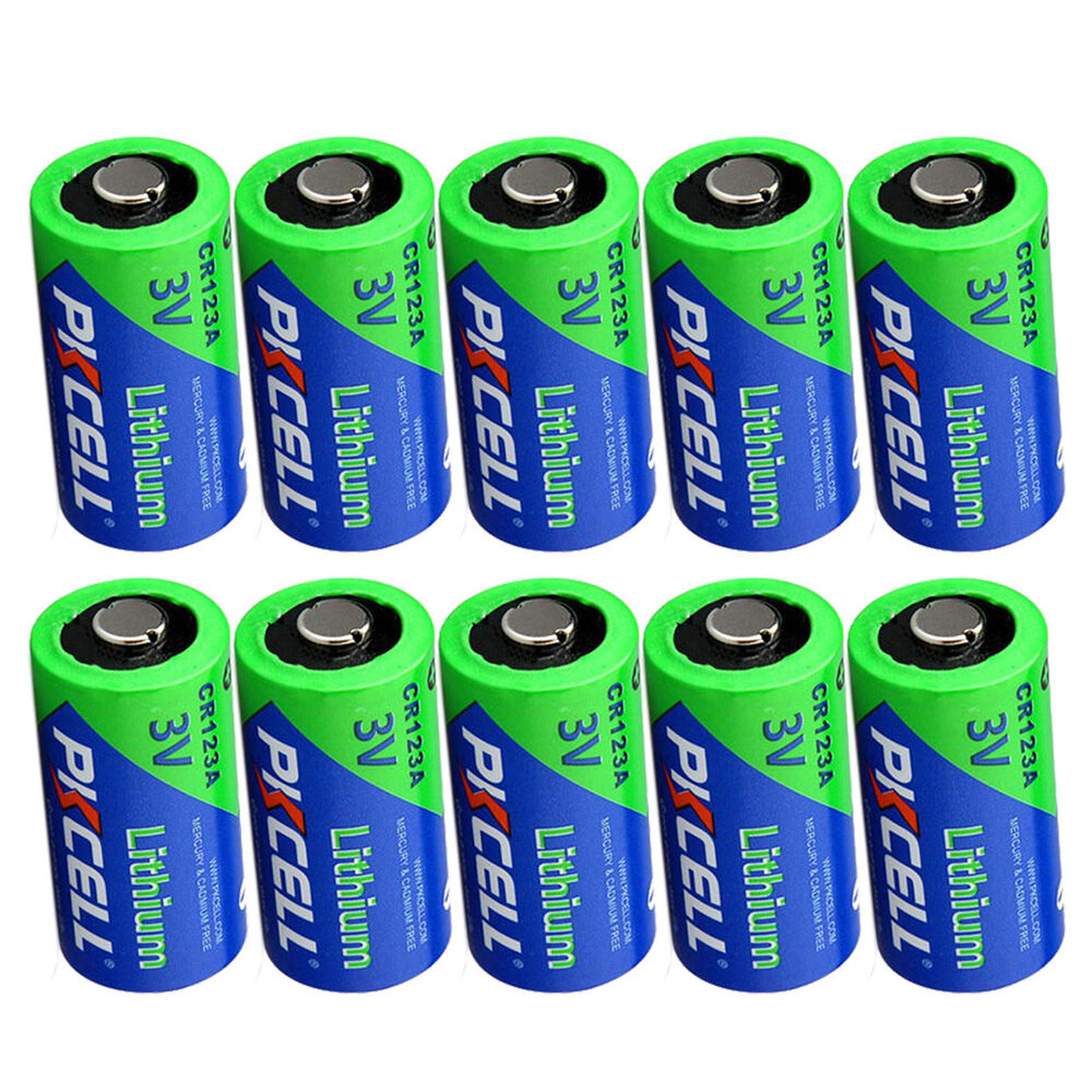 12 x 123a dl123a cr123a 3v lithium batteries for camera flashlight pkcell ebay. Black Bedroom Furniture Sets. Home Design Ideas