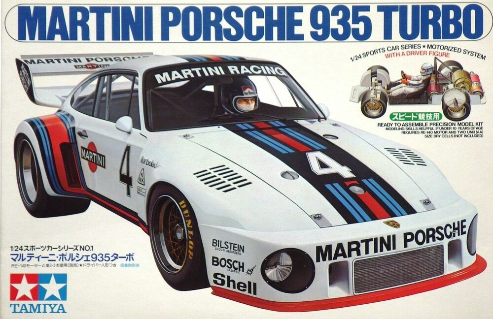 Tamiya 1 24 Martini Porsche 935 Turbo Model Kit 24001