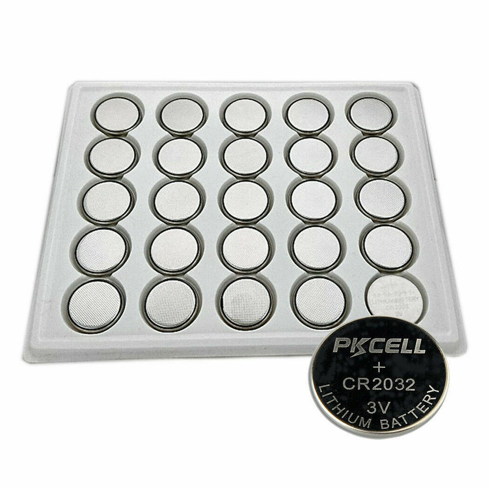 25pcs cr2032 ecr2032 dl2032 3v button coin cell battery pkcell ebay. Black Bedroom Furniture Sets. Home Design Ideas
