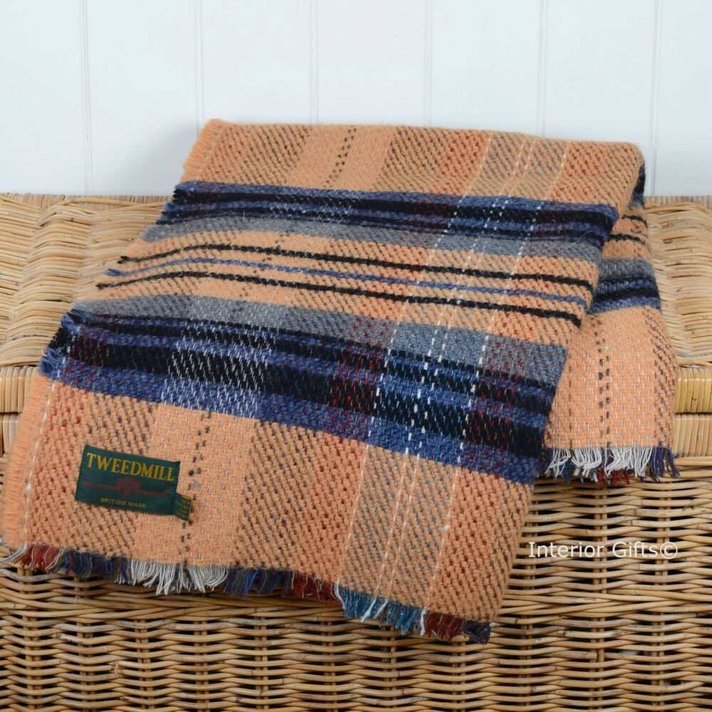 ALL WOOL ECO FRIENDLY THROW Recycled Blanket Knee Rug
