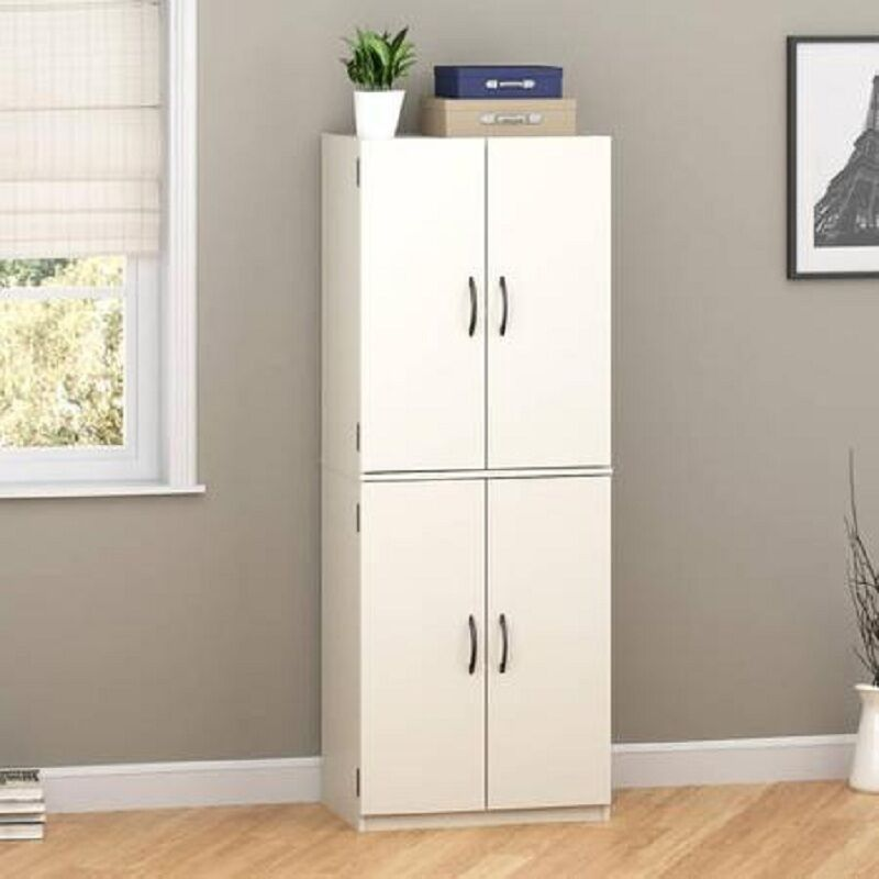 New Mainstays Storage Cabinet Organizer Cupboard Shelf Kitchen Pantry White Ebay