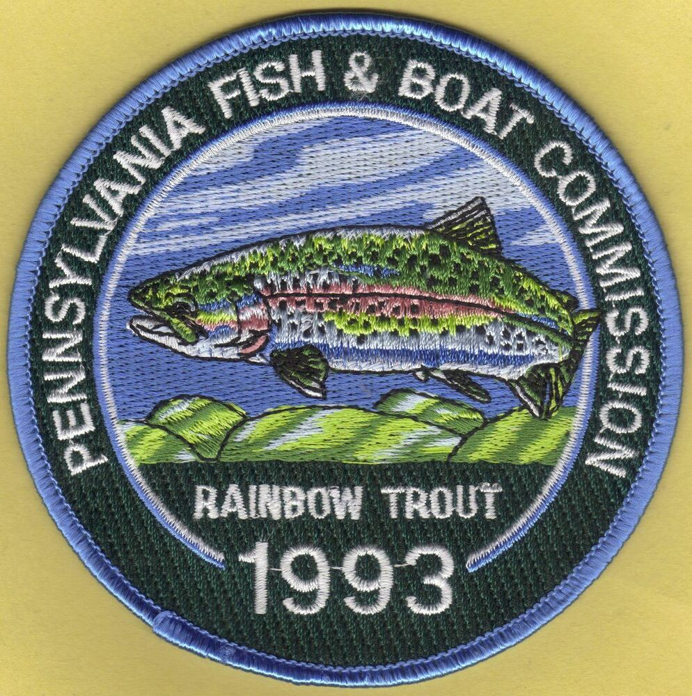 Pa pennsylvania fish commission new 4 1993 rainbow trout for Pa fish for free days 2017