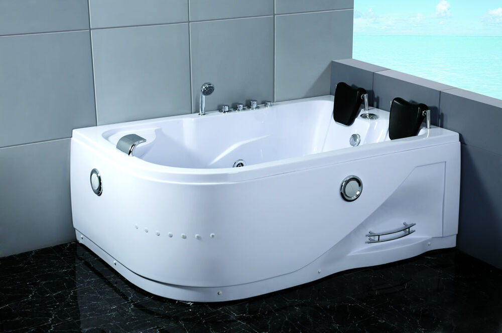 Two 2 Person Indoor Whirlpool Hot Tub Jetted Massage Bathtub Hydrotherapy Jet