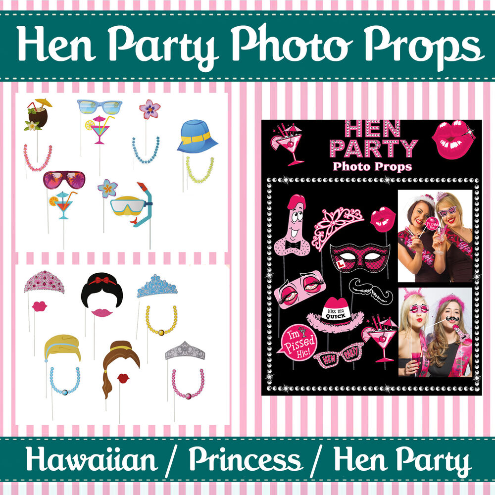 HEN PARTY SELFIE PHOTO BOOTH PROPS