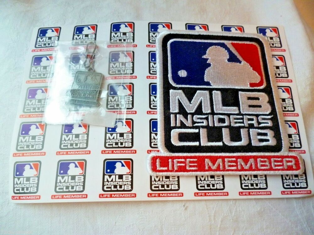 New Mlb Insiders Club Life Member Patch And Hang Tag Key Ring Ebay