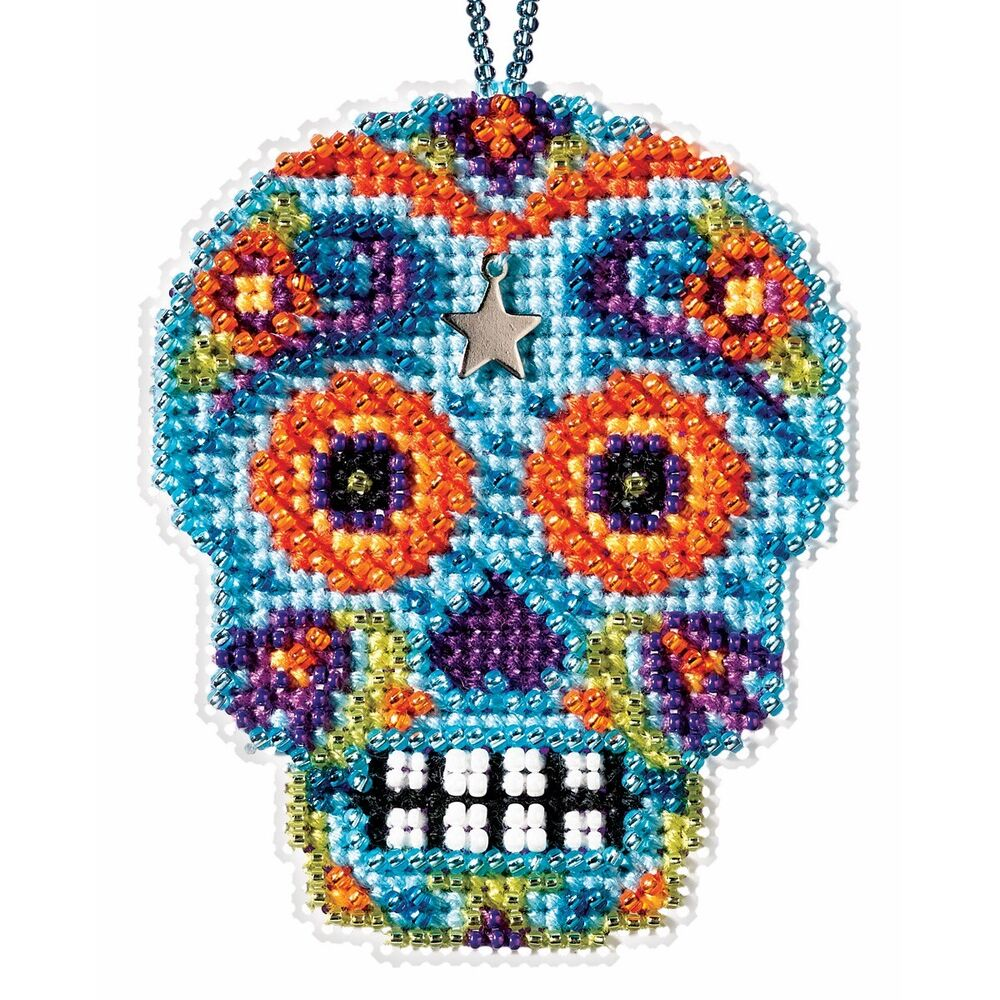 azul beaded cross stitch kit mill hill 2016
