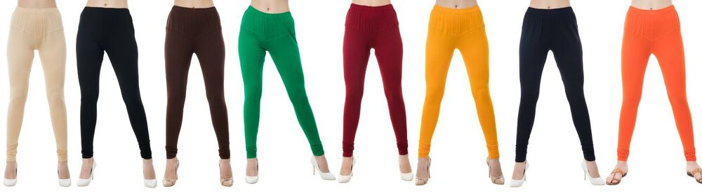 Lastest Women Girl Cotton Lycra Leggings Trouser Pants Bottom Chudidar Indian