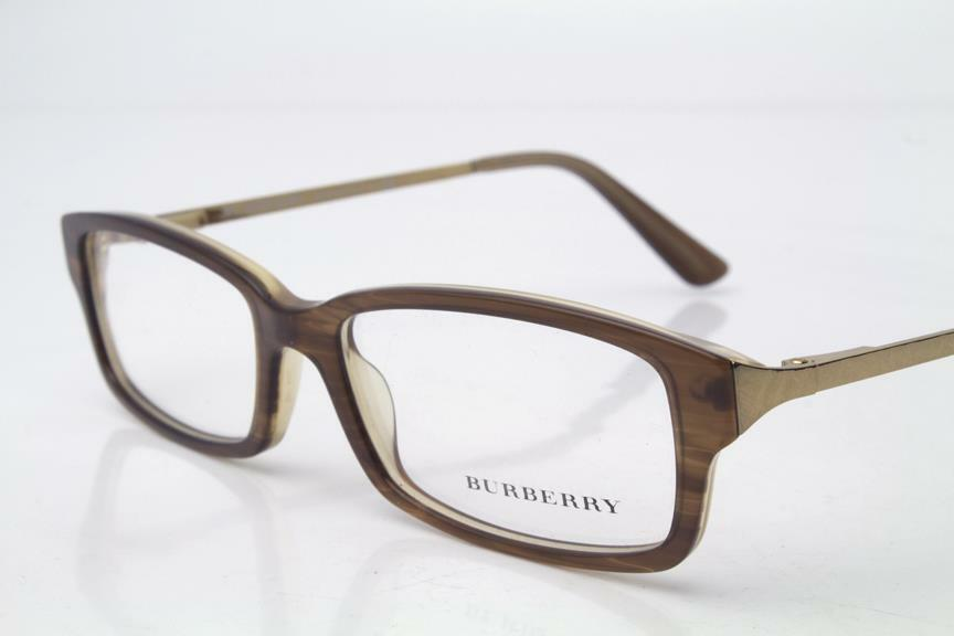 New Burberry Eyeglass Frames : New Burberry BE 2075 Eyeglasses Frames Brown Gold 3083 ...