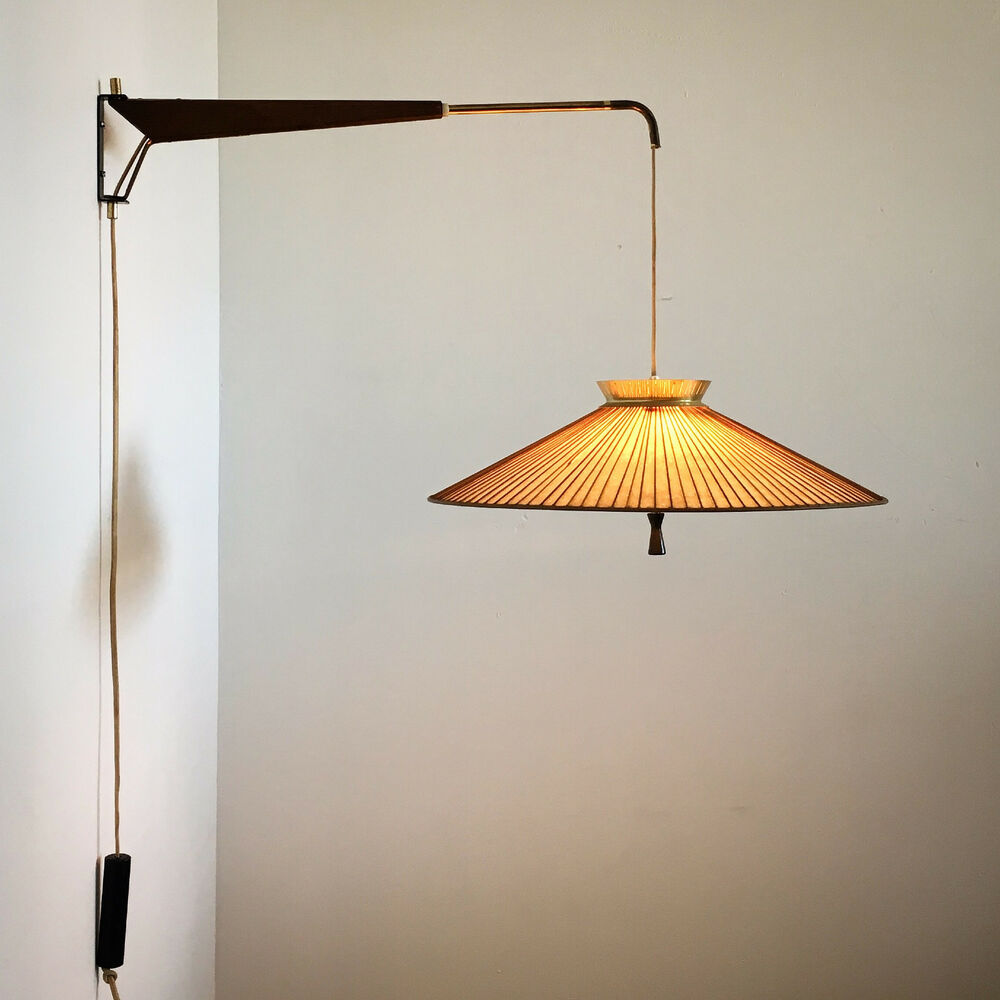 Wall Pendant Light: Vtg Mid Century Modern Gerald Thurston Lightolier Wall