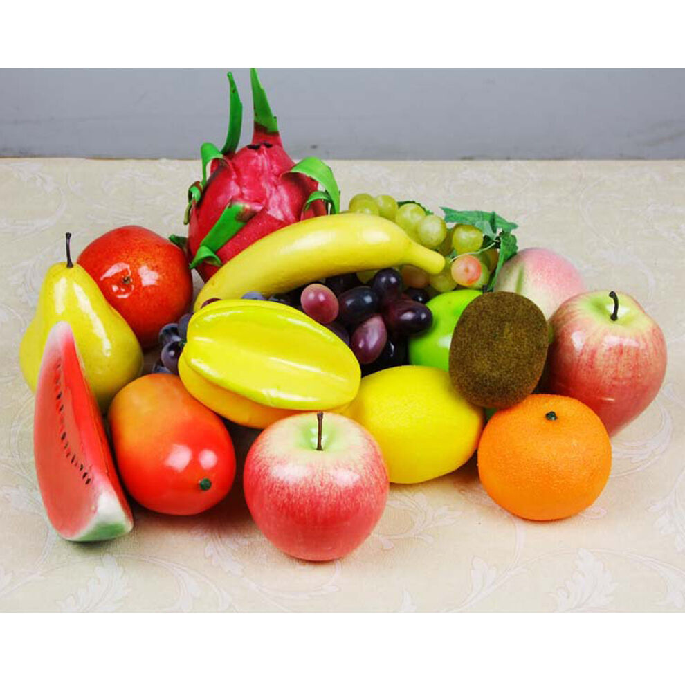 Lifelike decor plastic artificial fake fruit home decor for Apples decoration