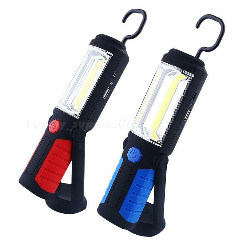 Light Stand Hook: 650Lm COB LED USB Rechargeable Inspection Light Magnetic