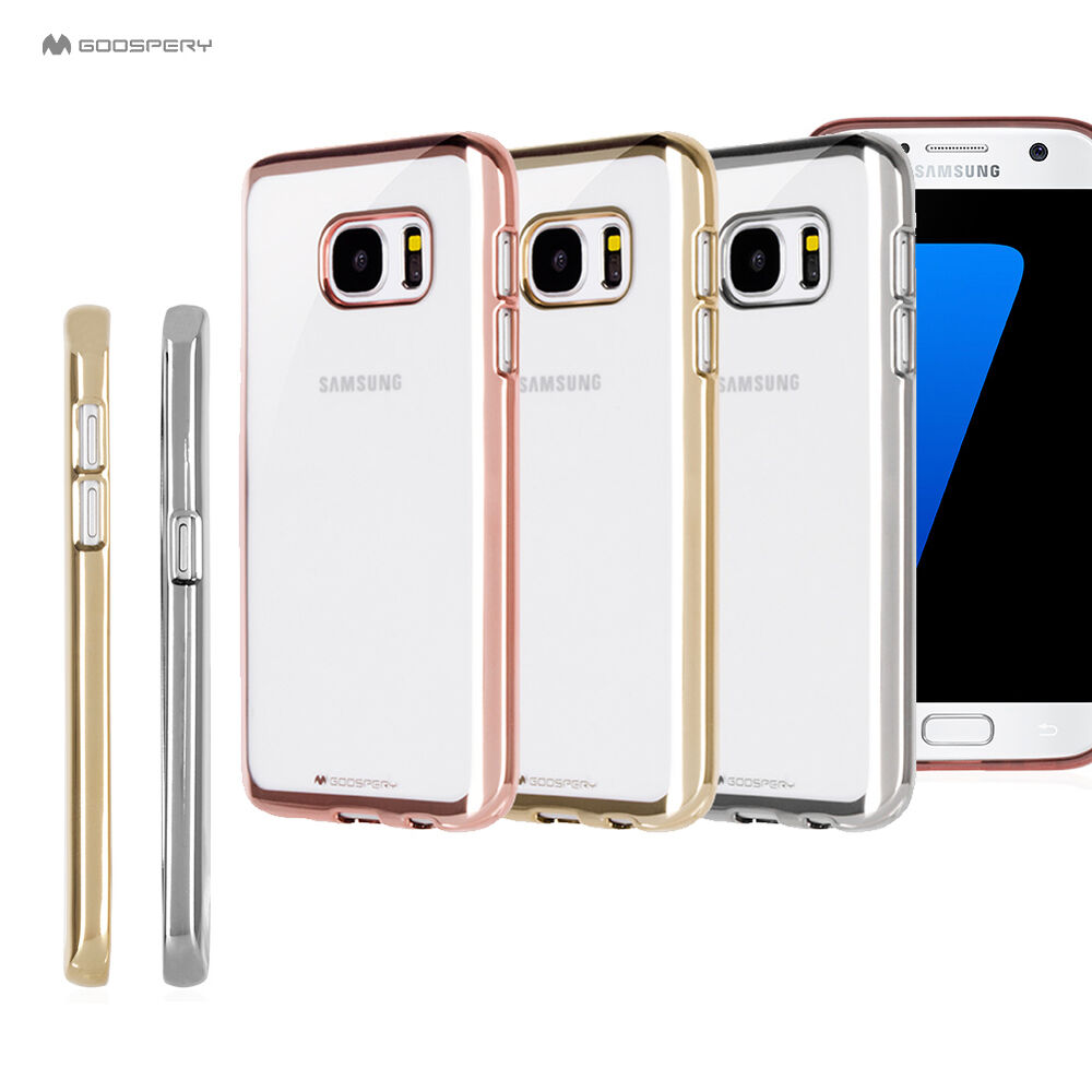Goospery Metallic Bumper Clear Case Silicone Gel Cover For Iphone X Samsung Galaxy S8 Plus New Gold S9 Lg Ebay