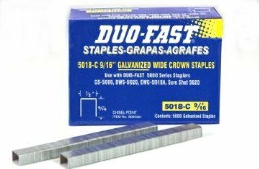 Duo Fast 5018c 9 16 Quot Staples 1 Boxes Of 5 000 Fits Ewc5018
