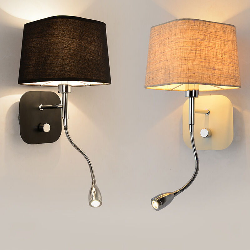Wall Sconce Band Switch Modern Led Reading Wall Light Fixtures Bedroom Wall Lamp Ebay