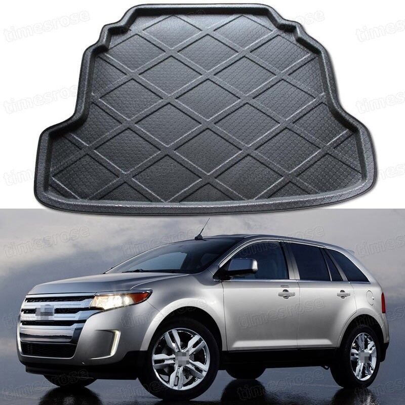 Black Car Rear Trunk Mat Cargo Boot Liner Tray For Ford