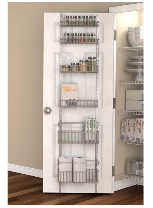Premium Over The Door Pantry Organizer Rack Kitchen