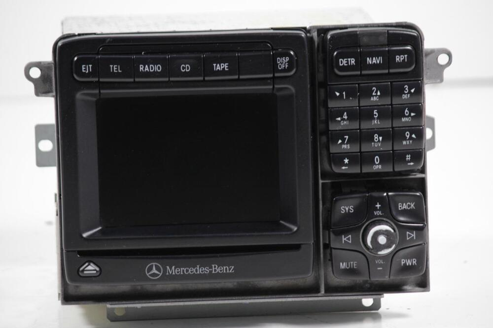 mercedes 2000 2002 command gps navigation radio cd player. Black Bedroom Furniture Sets. Home Design Ideas