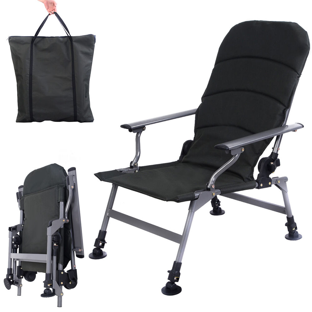 army green portable folding adjustable fishing chair