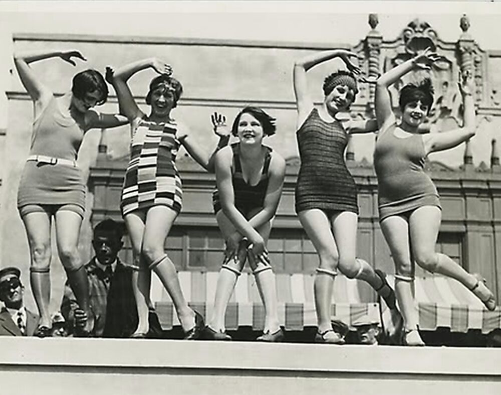 Ladies Dancing Charleston Photo Swimsuits 1920s Flappers
