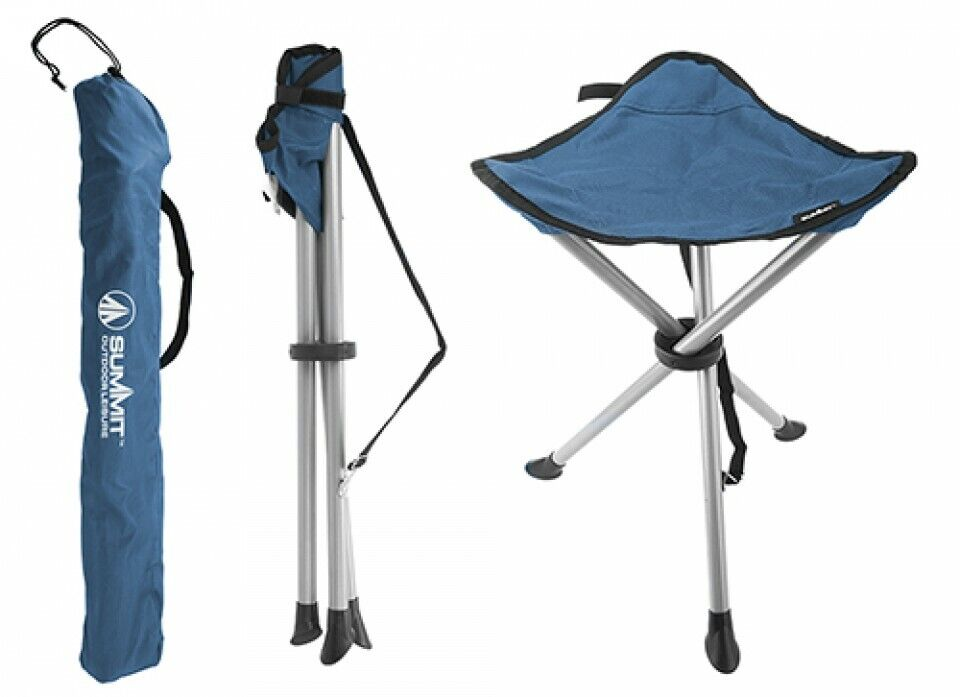 Summit Strong Camping Fishing Folding Travel Tripod Stool