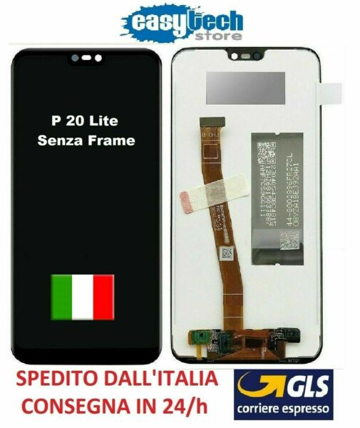 Schermo Display LCD Touch Screen Huawei  P20 LITE  ANE-LX1 Assembly NERO