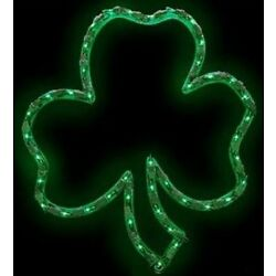 Kyпить St Patricks Day Lighted Shamrock 43 Lights ... Window/Wall/Door/Yard Decor (New) на еВаy.соm