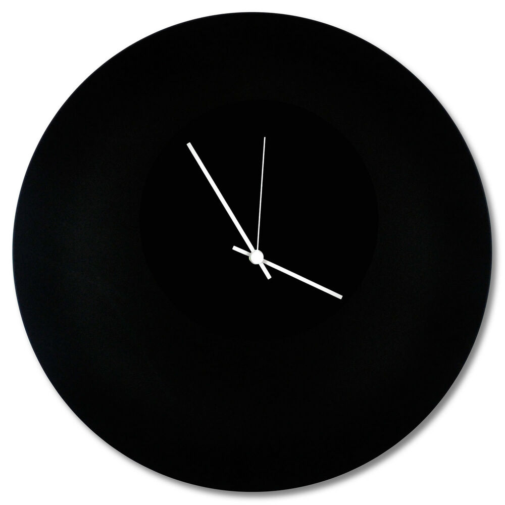 Minimalist Black Clock 39 Blackout Circle Clock