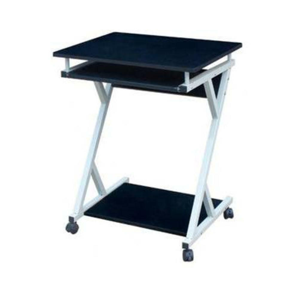 Wood rolling laptop desk mobile cart portable stand