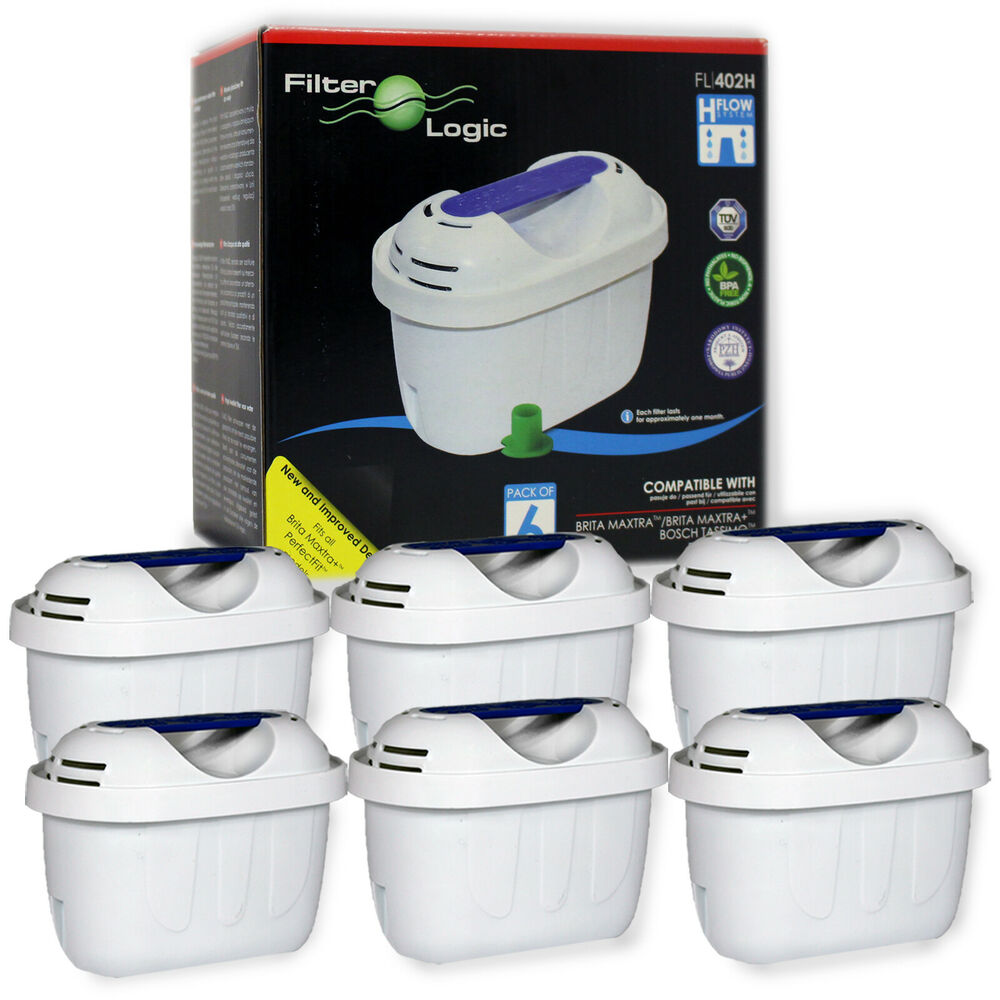 universal 6 pack of water filter cartridges to fit brita. Black Bedroom Furniture Sets. Home Design Ideas
