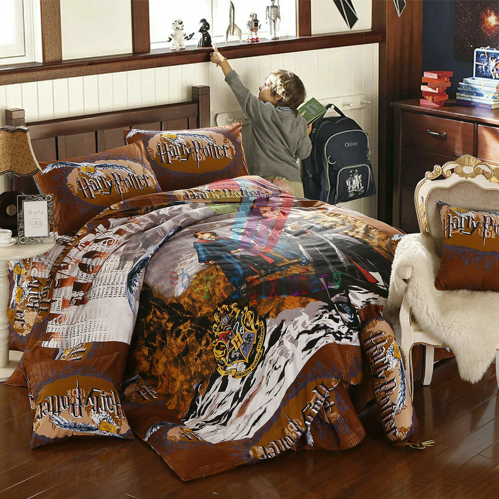 new harry potter 8pcs twin full queen size comforter in a bag free shipping ebay. Black Bedroom Furniture Sets. Home Design Ideas
